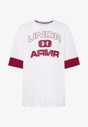 UA MOMENTS TEE-2 - T-shirt print - white/cordova