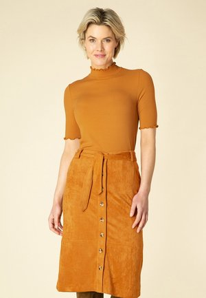 TINIE - Plooirok - burnt orange
