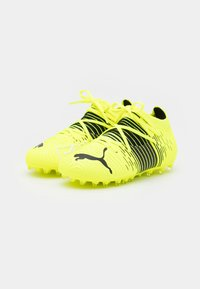 Puma - FUTURE Z 3.1 MG JR UNISEX - Moulded stud football boots - yellow alert/black/white - 1