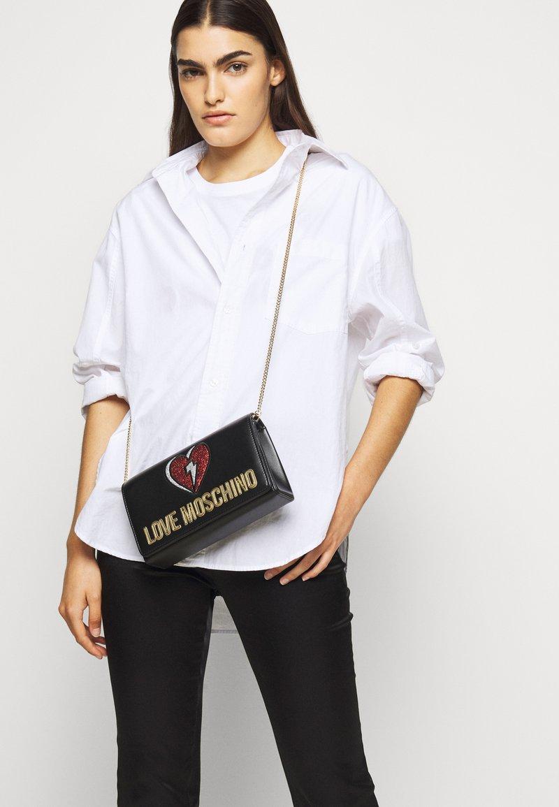 Love Moschino - EVENING BAG - Across body bag - black