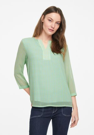 Tunic - light mint triangles