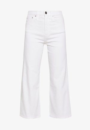 WIDE LEG - Flared jeans - white