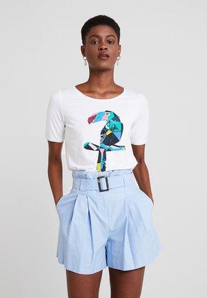 KURZARM - Print T-shirt - white