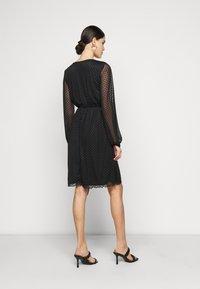 Dorothy Perkins Tall - WRAP DOBBY DRESS - Cocktail dress / Party dress - black - 2