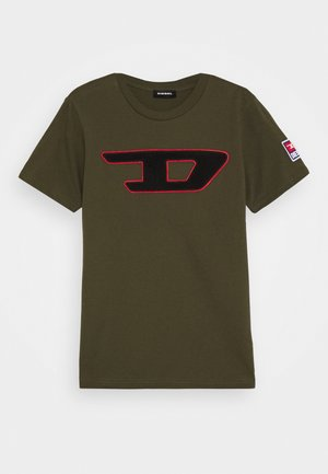 TJUSTDIVISION-D MAGLIETTA - T-shirt z nadrukiem - olive night