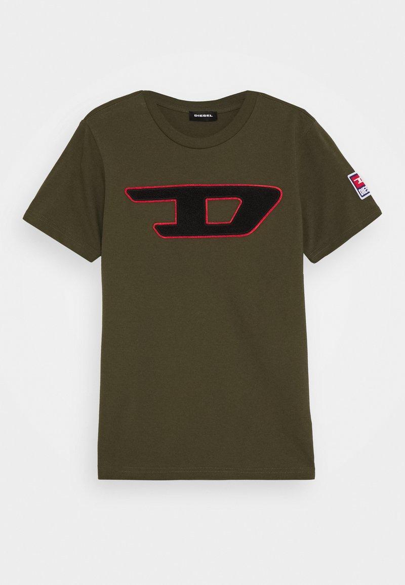 Diesel - TJUSTDIVISION-D MAGLIETTA - Print T-shirt - olive night