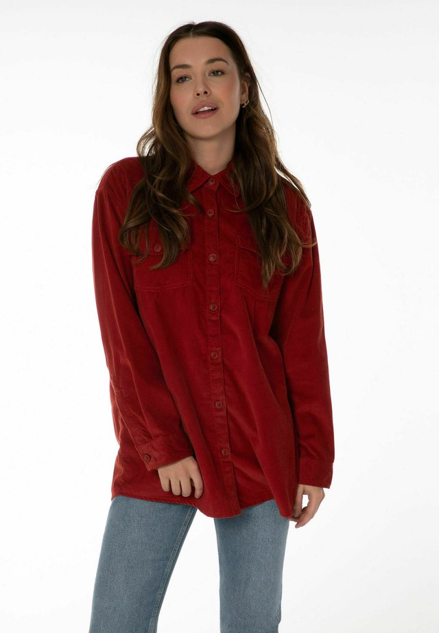 PINA  - Button-down blouse - clay