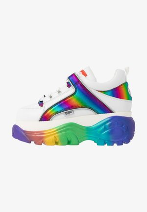 Joggesko - white/rainbow