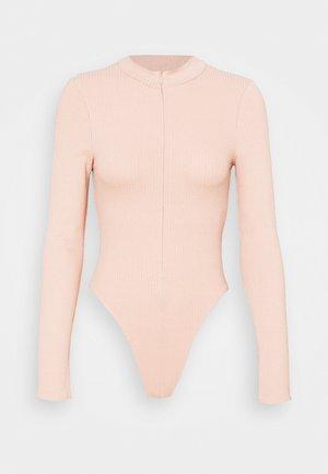 ZIP FUNNEL BODY - Maglietta a manica lunga - beige