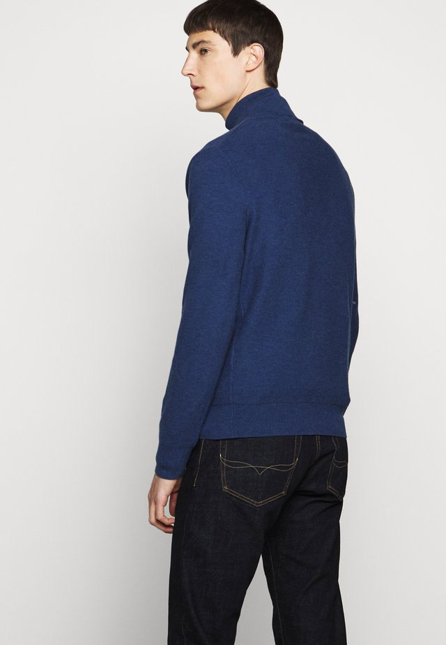 PIMA TEXTURE - Pullover - navy heather