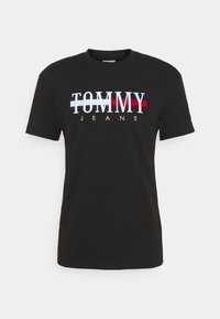 Tommy Jeans - TIMELESS TEE UNISEX - T-shirt con stampa - black - 4