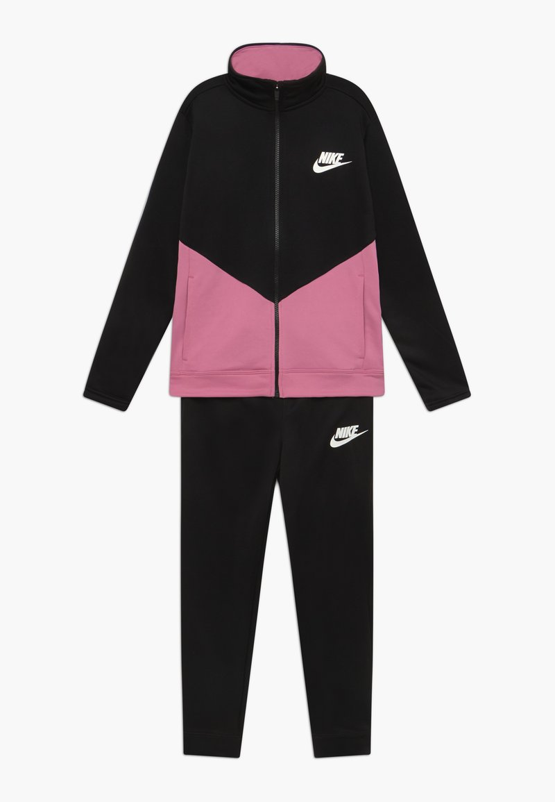 Nike Sportswear - B NSW CORE TRK STE PLY FUTURA - Sportovní bunda - black/magic flamingo