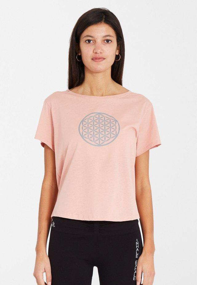 BIOMESSAGE - T-shirt print - blush