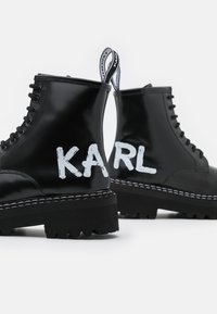 KARL LAGERFELD - PATROL BRUSH LOGO HI LACE - Plateaustiefelette - black - 6