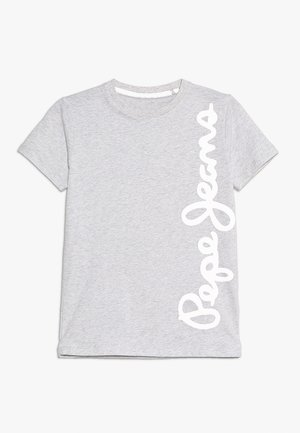 WALDO - Print T-shirt - hell marl grau