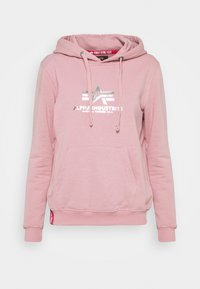 Alpha Industries - NEW BASIC HOODY PRINT - Sweatshirt - silver/pink - 4