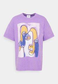 Vintage Supply - ABSTRACT ART GRAPHIC UNISEX - T-shirt imprimé - purple - 4
