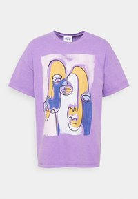 ABSTRACT ART GRAPHIC UNISEX - T-shirt med print - purple