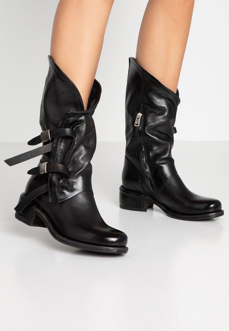 A.S.98 - Kovbojské/motorkářské boty - nero