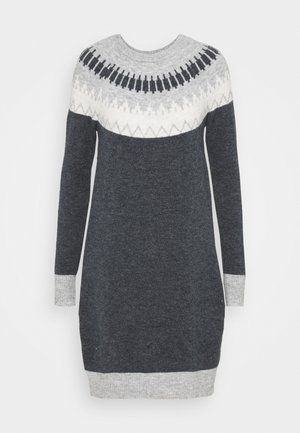 VMSIMONE NECK NORDIC DRESS - Jumper dress - navy / birch