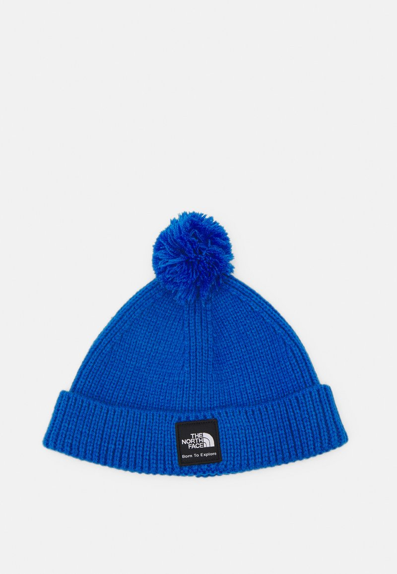 The North Face - LITTLES BOX LOGO POM BEANIE UNISEX - Beanie - clear lake blue