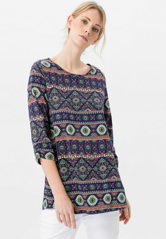 Long sleeved top - dunkelblau/multicolor