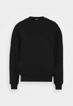 OVERSIZED CREW NECK SWEATSHIRT  - Sweatshirt - black