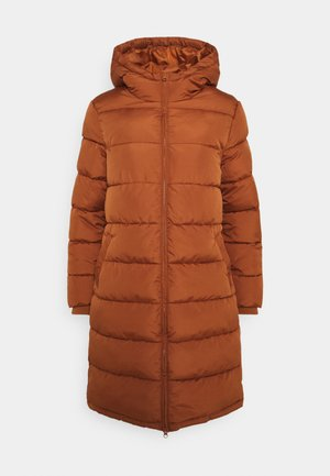 PCBEE LONG PADDED - Winter coat - mocha bisque