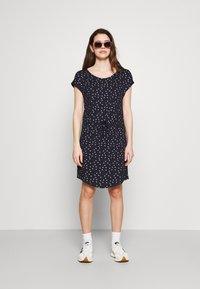 ONLY - ONLMILLIE BELT DRESS - Jersey dress - night sky/silver - 1