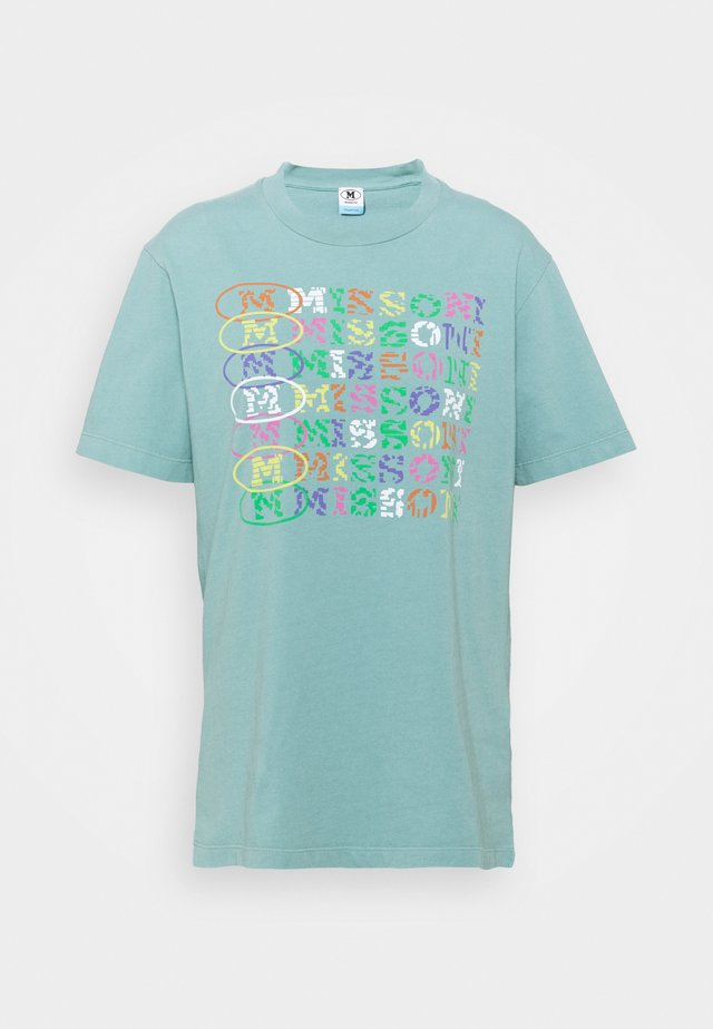T-shirt con stampa - mottled teal
