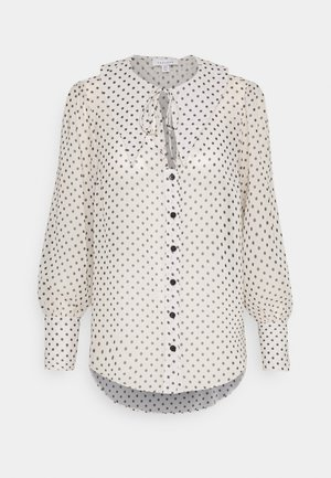 SPOT COLLAR BLOUSE - Button-down blouse - mono