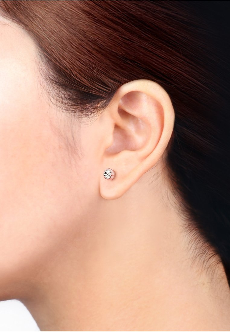 Elli - 2er Pack Stecker - Earrings - rosegold-coloured/white
