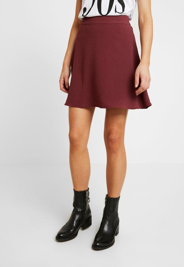 VMLENA SHORT SKIRT - A-line skirt - burgundy