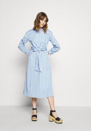 HALF PLACKET DRESS - Shirt dress - blue