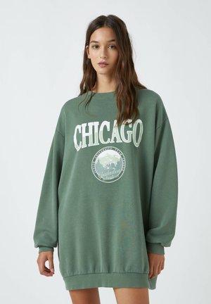 Sweatshirt - mottled dark green