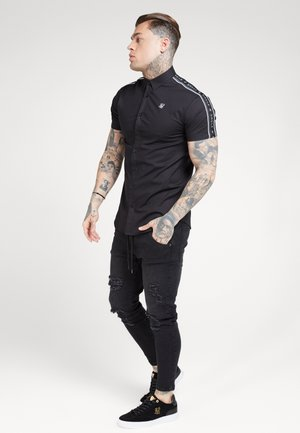 PIPED TAPE - Shirt - black