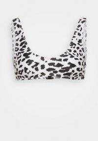 Wolf & Whistle - CROP LEOPARD - Bikini top - white/black - 4