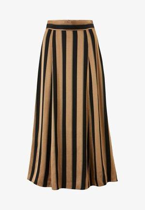 A-line skirt - dark toffee