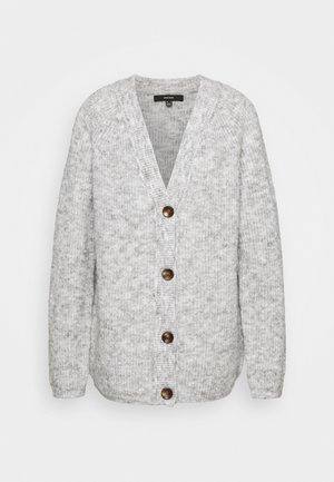 VMDAISY BUTTON CARDIGAN - Cardigan - light grey melange
