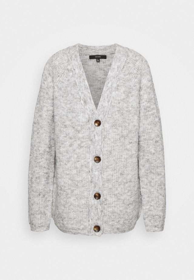 VMDAISY BUTTON CARDIGAN - Cardigan - light grey melange