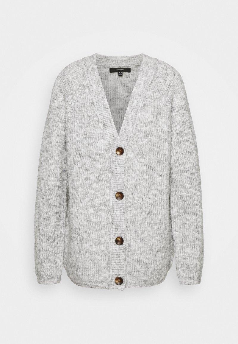 Vero Moda Tall - VMDAISY BUTTON CARDIGAN - Cardigan - light grey melange
