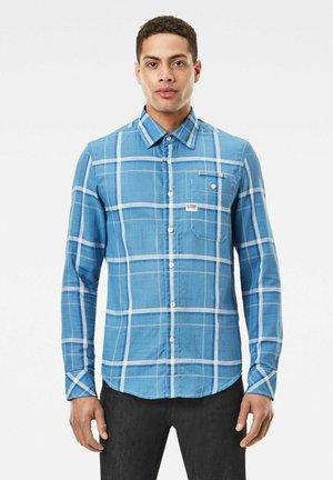 BRISTUM 1 POCKET SLIM - Shirt - chain blue eric check