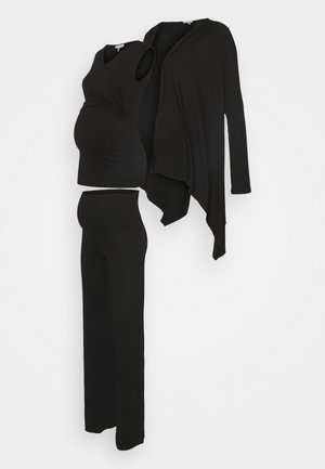 BOXHOMEWEAR SET - Cardigan - black