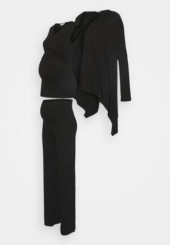 BOXHOMEWEAR SET - Cardigan - black