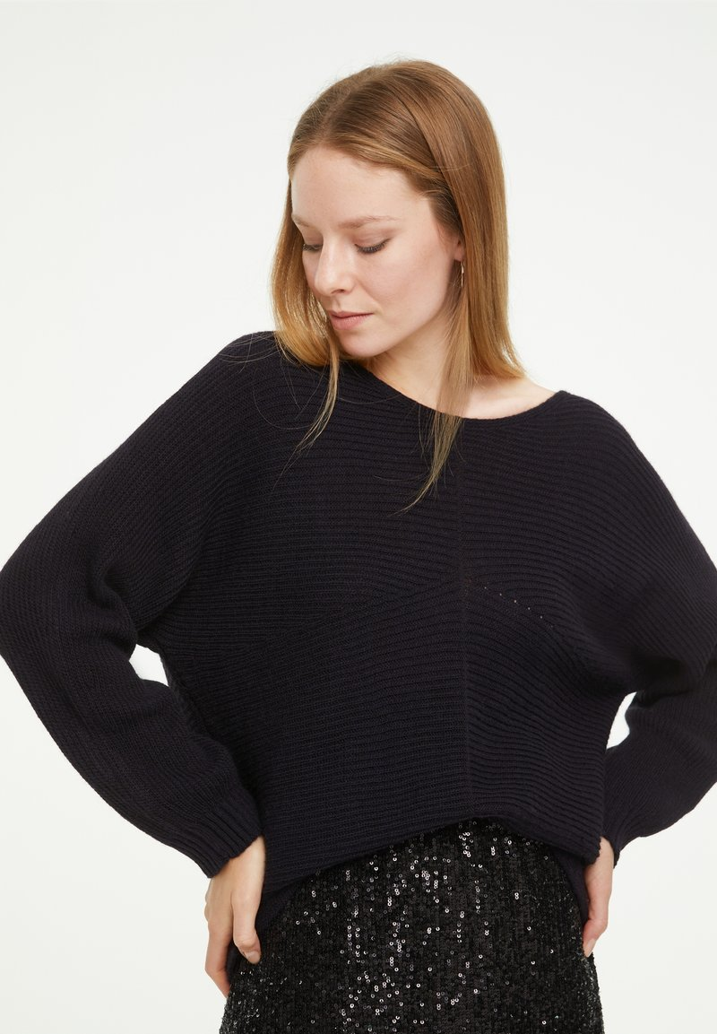 comma casual identity - LOOSE FIT - Jumper - marine