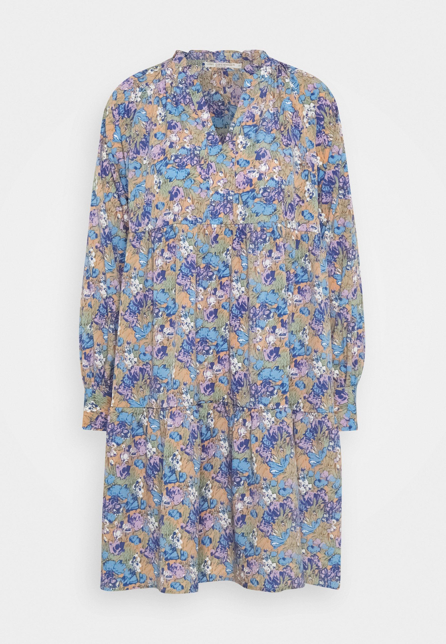 Femme FUMA DRESS - Robe d'été - blue