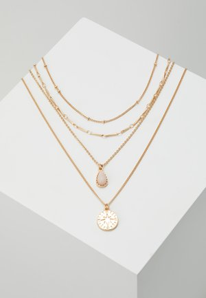 ONLCAILEY NECKLACE 2-IN-1 - Collana - gold-coloured/rose