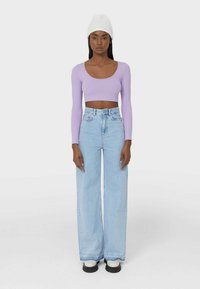 Stradivarius - Jeans bootcut - light blue - 0