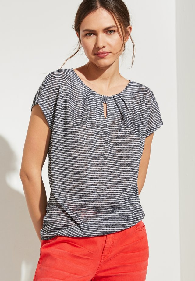Print T-shirt - marine stripes