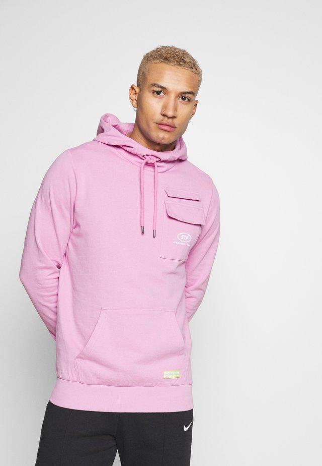 DYED HOODIE ACID WASH - Hoodie - pink